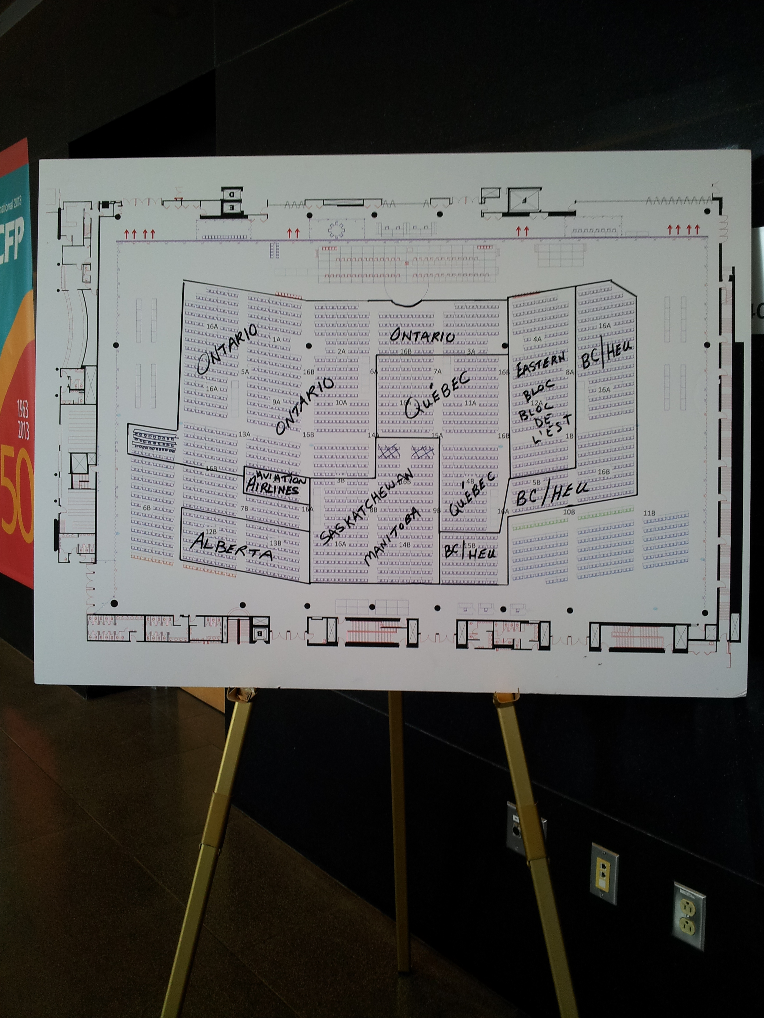 National convention floor plan